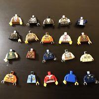 Lego 20 Mini Figure Torso Bundle Collection Minifigures Minifigure Body arms (d)