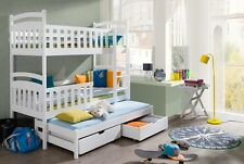 Etagenbett Hochbett Kinderbett Doppelbett VIKI NEW 90x200 unschädlich lackiert