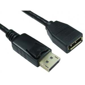 2m DisplayPort Extension Cable Display Port Monitor Lead DP Male to Female GOLD