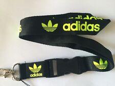 0733fa15669 Black Yellow Adidas Lanyard NEW - UK Seller -