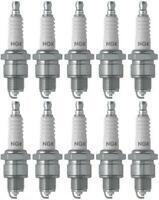 Set of 10 NGK Standard Spark Plugs for Yamaha CV50 1984 Engine 50cc
