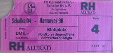 Fussball Ticket - FC Schalke 04 - Hannover 96 - 2.Bundesliga - 1989 1990 rar