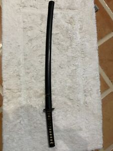 "Antique Japanese sword katana 37"" signed blade tsuba etc US Naval Officer suvnir"