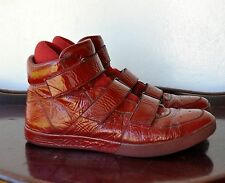 Paul Smith Red Patent Leather Hi-Top Sneakers Sz 44 / 11 US/10 UK Sold Out! Rare