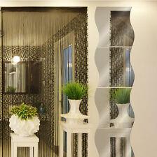 3D Wave Modern Room Home Wall Mirror Sticker Art Vinyl Mural House Decor Decal J