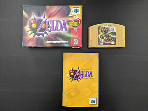 Legend of Zelda: Majora's Mask (Nintendo 64, 2000) N64 CIB Complete In Box