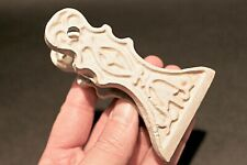 Antique Vintage Style Victorian White Cast Iron Clip