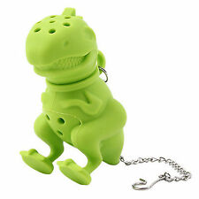 Dinosaur Tea Infuser Loose Leaf Strainer Herbal Silicone Filter Diffuser Y7 L2x5