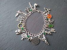 LOTR Charm Bracelet Lord Of The Rings Hobbit Jewellery Evenstar Eye Silver Gold
