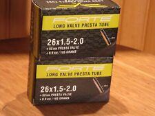 Forte 26 x 1.5-2.0 36mm presta valve bicycle 2 tubes