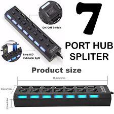 High Speed Data Transfer (Seven) 7 Port USB Hub 2.0 Splitter For Various Devices