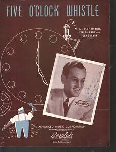 Five O'Clock Whistle 1940 Glenn Miller Sheet Music