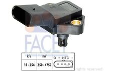 FACET Sensor, presión de sobrealimentación OPEL VOLKSWAGEN AUDI A4 BMW 10.3075