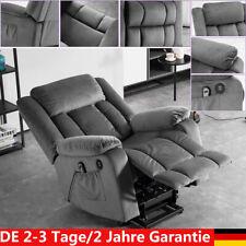 Elektrisch Aufstehhilfe Fernsehsessel Relaxsessel Massage Heizung USB Grau DHL