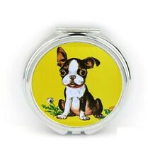 Boston Terrier Compact Mirror Vintage Retro Jewelry Chic Charm Gifts