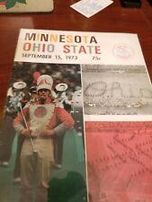 1973 Ohio State vs. Minnesota Gophers Football Program (Excellent Condition)