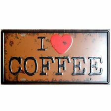 I love coffee Tin sign Cafe Wall Plaque Hanging signs Livingroom Home Decoration