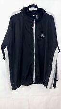STARTER Mens Size XL Black Long Sleeve Wind Breaker