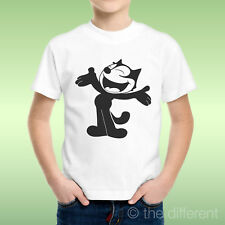 camiseta Niño niño Gato Negro Cartoon Black Gatos Idea De Regalo