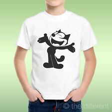 camiseta Niño niño Gato Negro Cartoon Black Gatos Idea De Regalo