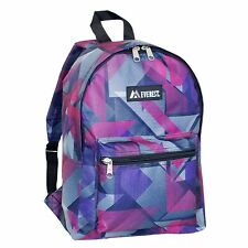 Everest Basic Pattern Backpack, Purple/Pink Geo, One Size