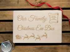 Personalised Christmas Eve Box Engraved Xmas box