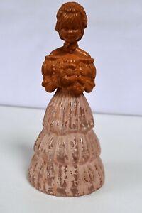 "Vintage Avon Garden Girl Sweet Honesty Cologne Bottle Pink Figurine Empty Old""K3"