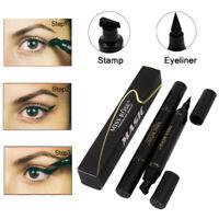 2En 1 Maquillage Mascara Crayon Noir Liquide Yeux Stylo Eyeliner Pen Imperméable