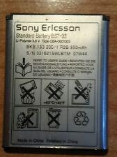 BATTERIA BST33 BST-33 ORIGINAL Sony Ericsson W302 W395 W595 W610i W660i W705