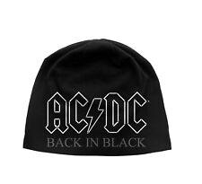 ac/dc back in black  jersey beanie