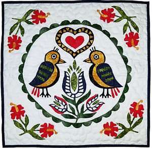 Double Distle Finks Pennsylvania Hex wall sized FINISHED QUILT