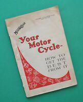 1938 Motorcycle Service Manual Book Norton Triumph BSA Ariel Vincent Matchless