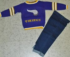 Minnesota Vikings Baby toddler kids sweater jeans outfit sz. 3T BRAND NEW NFL