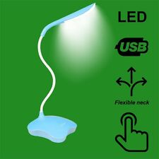 LED blu su OFF Touch Sensor USB/Batteria Lampada da tavolo & Nightlight Funzione