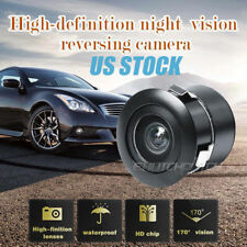 Car Rear Back Up Mirror 170° Wide-angle View CCD Backup Parking Hole Camera US