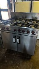 More details for masterchef commercial cooker 6 burner and oven heavy duty natural gas