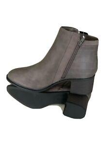 NEXT FOREVER COMFORT Ladies Grey BLOCK HEEL CHELSEA BOOTS Size 6.5 New