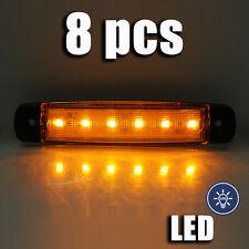 12V x 6 LED marquage latéral Feu 8 pièces lampe POSITION CAMION bus caravane