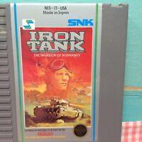 Iron Tank Invasion Normandy Nintendo NES Original Authentic Retro Classic Game!