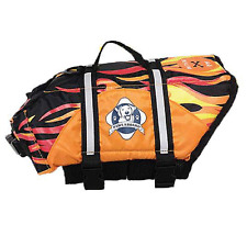 Paws Aboard RACING FLAMES dog pet life vest jacket XXS, Small, Medium, Large,XL