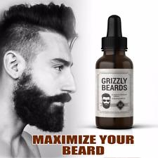 GRIZZLY BEARDS SERUM OIL MOUSTACHE GROW FACIAL TREATMENT BEARD GROWTH HAIR LOSS