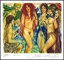 Kirnitskiy Sergey 2001 Exlibris C4 Mythology Paris Court Erotic Nude Woman 42