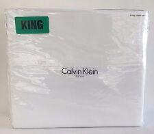 Calvin Klein Home 4 Piece King Sheet Set 100% Combed Cotton 320 TC White NEW