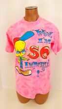 Vintage Looney Tunes 1997 Tweety Bird T Shirt Tie Dye Graphic Tee Youth Sz 14/16