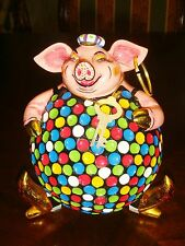 Piggy bank, multicolor with key to open[a*cloison]