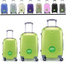 Juego de 3 maletas rigidas lisas de 4 ruedas giratoria 360 maleta equipaje viaje