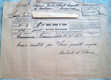 1928 TELEGRAMMA MANOSCRITTO DI UMBERTO DI SAVOIA CON SOCIETA' TRANVAI TORINESI
