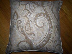 Ralph Lauren DESERT SPA PAISLEY Pillow W/ Insert Goose Down feather Zippered