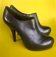 Ash Black Soft Leather Hidden Platform Shoe Boots 40 7 Just Tried On Indoors