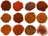 CHILI PEPPERS Dried Flakes Stripes Premium Powder Mix Smoked